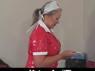 Mature Naughty Nurse Fucking Herself