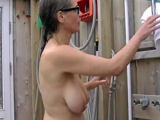 Busty Tina Naked Outside