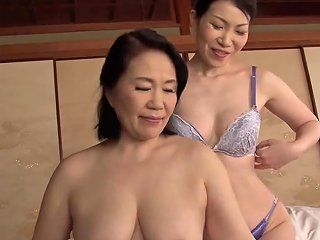 Mature Japanese Woman Spreads Her Legs For A Lesbian Shag